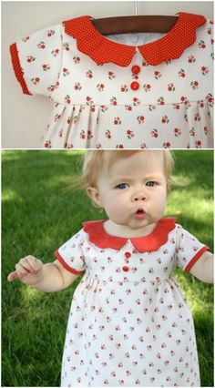 Baby Frock Pattern, Baby Girl Dress Patterns, Baby Clothes Patterns, Sewing Patterns For Kids, Baby Patterns, Clothing Patterns, Frock Patterns, Coat Patterns, Mccalls Patterns