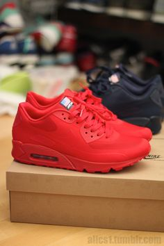 Red Nike Air Max #sneakers