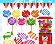 40% off Candy Clipart gumball machines jelly beans by LillyBimble ...