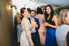 Guests mingling during the wedding reception, drinking wine. Bridesmaid Dresses, Prom Dresses, Formal Dresses, Wedding Dresses, Wine Drinks, Wedding Reception, Drinking, That Look, Gardens