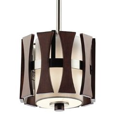 The Cirus Mini Pendant Light by Kichler offers a sleek and modern, yet organic and timeless design. Its classic cylinder shape features auburn stained panels over a frosted glass diffuser, reminiscent of the mid-century designs popular in the 1940 Small Pendant Lights, Pendant Lighting, Kirkland House, Ceiling Fixtures, Ceiling Lights, Mid Century Modern Chandelier, Cylinder Shape, Glass Diffuser, Fabric Shades