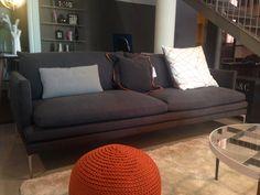 William sofa by Zanotta. Fabric Vale col Anthracite