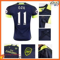 Nieuwste Arsenal 3e Shirt OZIL 11 Blauw 2016 2017 Nederland 383bc770d