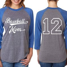 3/4 Sleeve Baseball Mom Raglan Tee  Women's Cut T-shirt