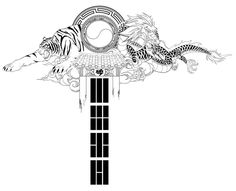Don't know much about tattoo design and principles, but I'd put this on my back. Not sure if it's practical in terms of level of detail or line weight. The theme is Korea or Korean heritage. TBH, I...