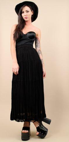 Grunge goth Clothing | high waist gauze long skirt os medium large xl gypsy boho grunge goth ...