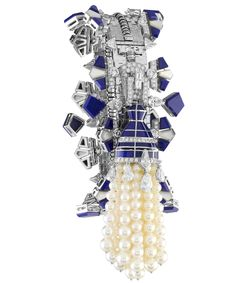 Van Cleef & Arpels ZIP High Jewelry Collection: a harmonious marriage of lapis lazuli, white mother-of-pearl and cultured pearls