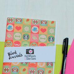 Blank Notebook - 1 Handmade Journal Midori Travelers Notebook Insert Bullet Journal Faux Midori Midori Notebook  Dog Journal by HotWheelsAndGlueGuns