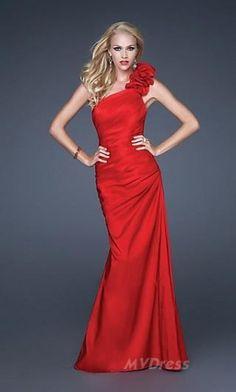 9230a781a6a Trumpet Mermaid One Shoulder Sweep Brush Train Taffeta Prom Dress Style  16133