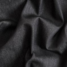Italian Raven Black Crisp Cotton Denim: Sold by Mood Fabrics