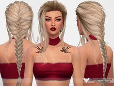 Sims 4 Hairs ~ The Sims Resource: LeahLilith`s Daydream hair retextured by Pinkzombiecupcakes The Sims 4 Pc, Sims Four, Sims 4 Tsr, Sims Cc, Sims 4 Mods Clothes, Sims 4 Clothing, Los Sims 4 Mods, The Sims 4 Cabelos, Pelo Sims