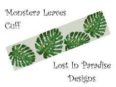 Znalezione obrazy dla zapytania peyote pattern monstera