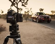 "Sunrise in the desert with my ""fast and light"" PhaseOne setup and the new @BMW X6! I had a blast shooting this project with a team of other photographers some of whom took the IQ250 for a test drive. #PhaseOne #ProImaging by phaseonephoto"