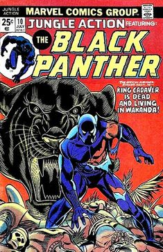 Retro-View: Jungle Action Featuring The Black Panther (Marvel Comics) Avengers Comics, Archie Comics, Hq Marvel, Marvel Comic Books, Comic Book Heroes, Comic Books Art, Black Panther Marvel, Black Panther Comic Books, Black Comics