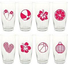 Nálepky na poháre Shot Glass, Tableware, Garden, Party, Dinnerware, Garten, Dishes, Gardening, Fiesta Party