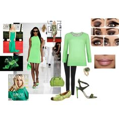 """""""Shades of green"""" by tammy-devoll on Polyvore"""