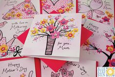 Mothers Day cards for 2014 from Blue Eyed Sun. See their two new ranges of beautiful handmade Mothers Day cards: Daisychain and Cabaret. Father's Day, Mom Day, Sunday Greetings, Mothering Sunday, 2017 Images, Mothers Day Cards, Happy Day, Greeting Cards, Love You