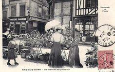 Le marché en plein-air de Bar-sur-Aube