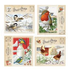 Hunkydory Festive Birds of Britain Luxury Card Collection