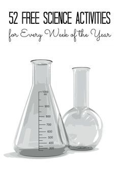 Frugal and easy science activities for Kids for each week of the year.