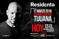 La espera terminó... hoy salieron a la venta los boletos para Residente en Tijuana.  Adquiérelos en: Farmacias Roma El Trompo y Hotel Pueblo Amigo.  Five Concerts