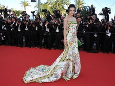 """Actress Fan Bing Bing attends the opening ceremony and """"Moonrise Kingdom"""" premiere wearing an embroidered Christopher Bu gown during the 65th Annual Cannes Film Festival at Palais des Festivals on May 16, 2012 in Cannes."""