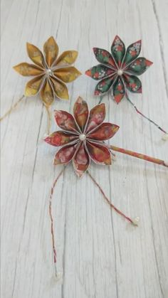DIY Paper Hairpin - It is about some Chinese ancient paper hairpins style. Save it, make it by yourself ! How about wea - : DIY Paper Hairpin - It is about some Chinese ancient paper hairpins style. Save it, make it by yourself ! Paper Flowers Craft, Paper Crafts Origami, Diy Origami, Flower Crafts, Diy Flowers, Diy Paper, Paper Crafting, Origami Flowers, Folded Paper Flowers