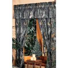 Mossy Oak's New Break-Up Curtain & Valance- Camouflage & Hunting Decor