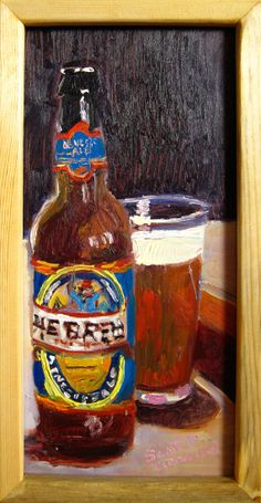 Beer Painting of He'Brew by Shmaltz Brewing Co. by RealArtIsBetter, $75.00