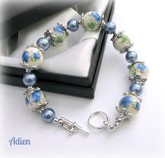 Blue Flower Bracelet Ceramic £10.95