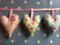 Heart garland with cath kidston fabrics - Detailed item view - Patchwork and Lace
