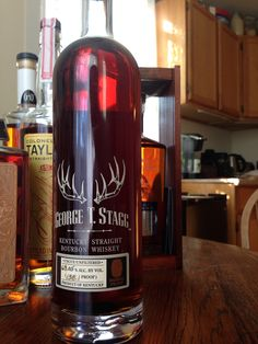 Buffalo Trace - Antique Collection 2014 - George T. Stagg Bourbon - 16 yr 4 mo - 138.1 proof - $83-89 - 161 barrels total - Distilled spring 1998 - 74.81% evaporation rate - aged in warehouses C, H, I, K, L, P, and Q.