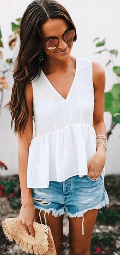 #summer #outfits / white