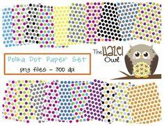 Polka Dot Digital Paper Set: Graphics for Teachers - The Hazel Owl - TeachersPayTeachers.com