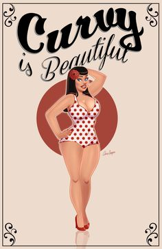 Curvy is Beautiful Pinup by TheCosbinator.deviantart.com on @deviantART