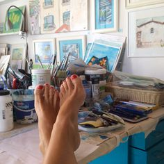 Mixed media art by Gill Tomlinson inspired by Greece and the Mediterranean - evoking the bright sun, deep blues and whitewashed walls of the Greek Islands. The Beautiful South, Summer Story, Peeling Paint, My Art Studio, On The High Street, Old Art, Deep Blue, Greece, Vibrant Colors