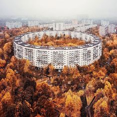 During the socialist time eastern Europe was a home to many unusual 'brutalist' structures, Moscow especially. Communist authorities had to industrialize and expand the cities as soon as possible because of large influx of rural population in capital cities. Before WWII most of the population ac