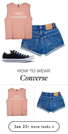 """Untitled #291"" by rowanstella-1 on Polyvore featuring Converse"