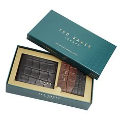 Ted Baker Holiday Crocodile Leather Wallet and Card Holder Gift Set