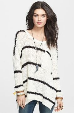 Free People 'Greenwich' Stripe Oversized Pullover available at #Nordstrom