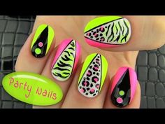 Party Nails! Nail Art Collab with elleandish // Janelle - YouTube