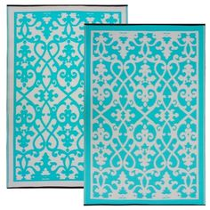 Venice Cream & Turquoise | Outdoor Area Mats | | SKU: FH-VENICE-CREAM-TURQUOISE | Outdoor Rugs and Carpets