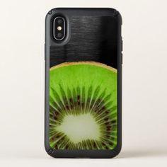 Bright Kiwi Fruit Metallic Background Speck iPhone X Case - metal style gift ideas unique diy personalize