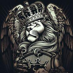 All hale King moonracer King of The Island of Misfit Toys. Best Sleeve Tattoos, Back Tattoos, Body Art Tattoos, Logo Lion, Coroa Tattoo, Og Abel Art, Rasta Art, Lion Wallpaper, Lion Pictures