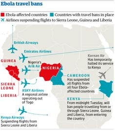 Countries Affected by Ebola - Bing Images