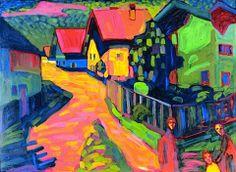 Murnau street, 1908 / Kandinsky