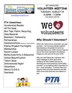 pta volunteer flyer template pto pinterest pta