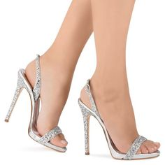 Outstanding silver heels for prom. Stylish and trendy silver heels for prom. Prom heels that you can afford and look beautiful. Silver Heels Prom, Sparkly Shoes, Glitter Sandals, Silver Sandals, Prom Heels, Wedding Heels, White Sandals, Stilettos, Pumps Heels