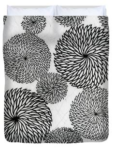 Chrysanthemum Duvet Cover featuring the tapestry - textile Chrysanthemums by Japanese School