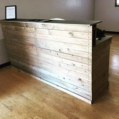 recycled wooden reception desk - Google Search